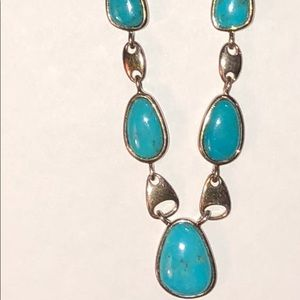 Turquoise and sterling 925 necklace
